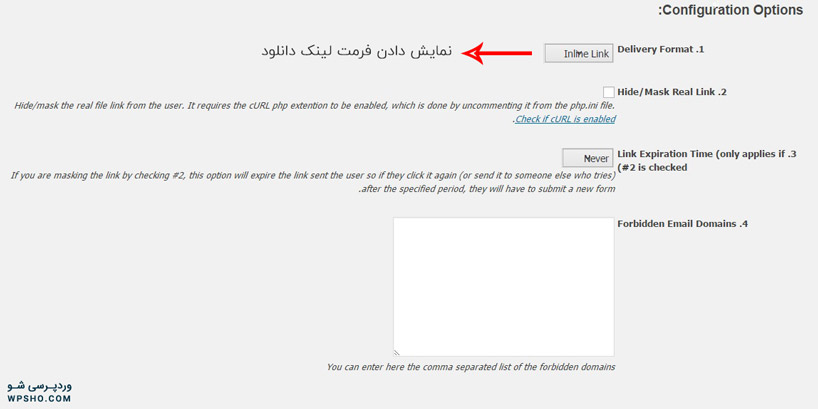 تنظیمات Email Before Download