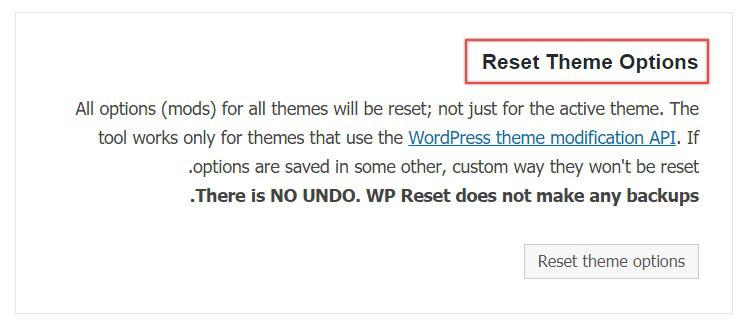 ریست قالب وردپرس با افزونه WP Reset
